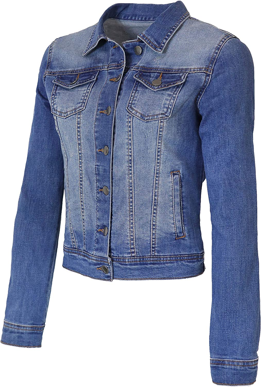StyLeUp Womens Classic Casual Vintage Denim Jean Jacket//Vest Regular /& Plus Size