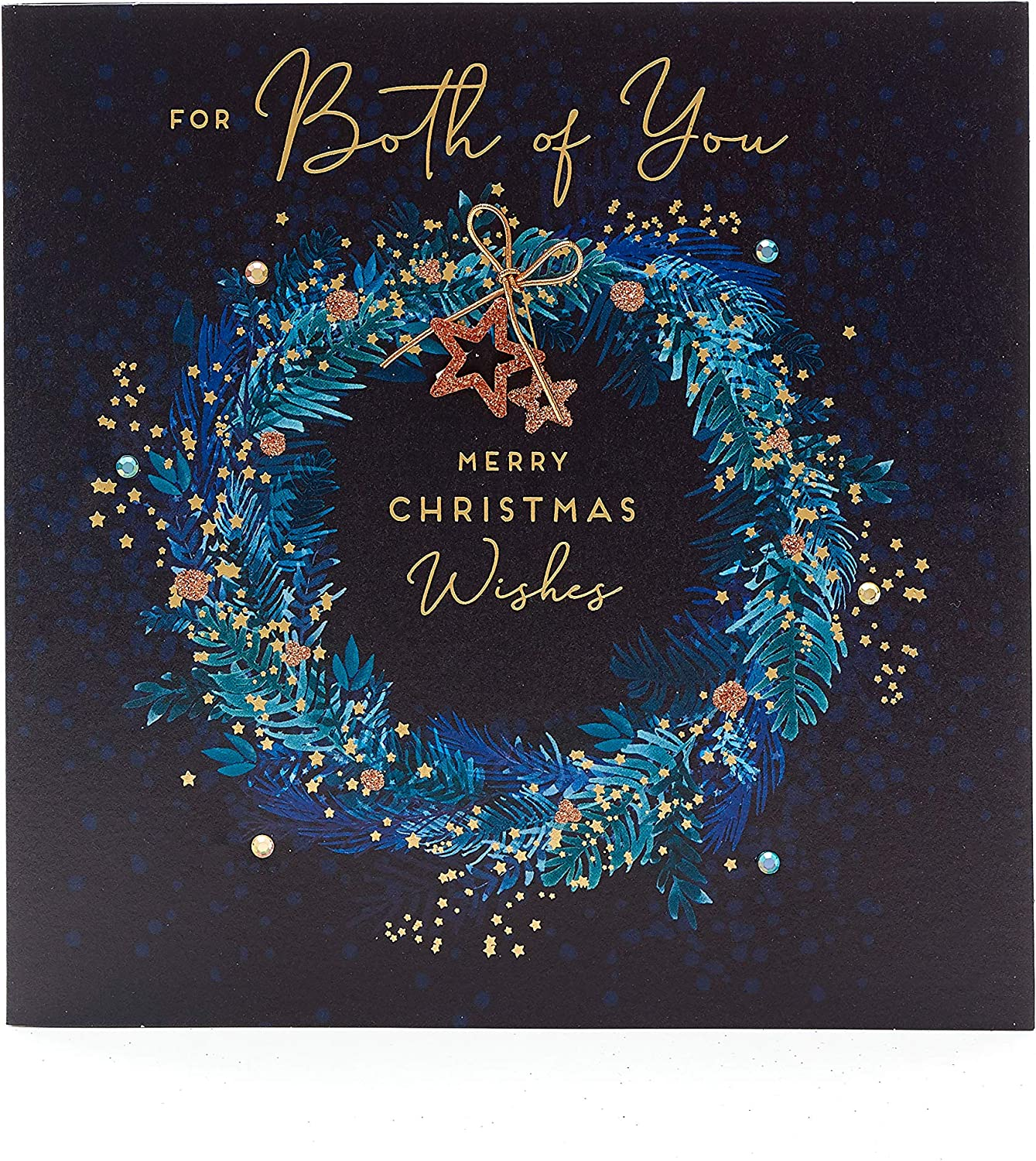 to Both of You Christmas Card- Luxury Christmas Card to Give to Couple- Gift Card for Her- Gift Card for Him- Christmas Gift Card