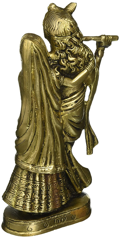 Brass Sculpture Lord Krishna and Radha