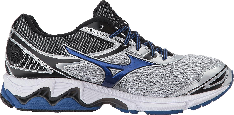 Mizuno Men's Wave Inspire 13 Running Shoe Silver/True Blue/Black