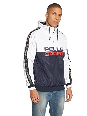 herausragende Eigenschaften professionelle Website stabile Qualität Pelle Pelle Herren Windbreaker Vintage Sport Jacke Weiss blau