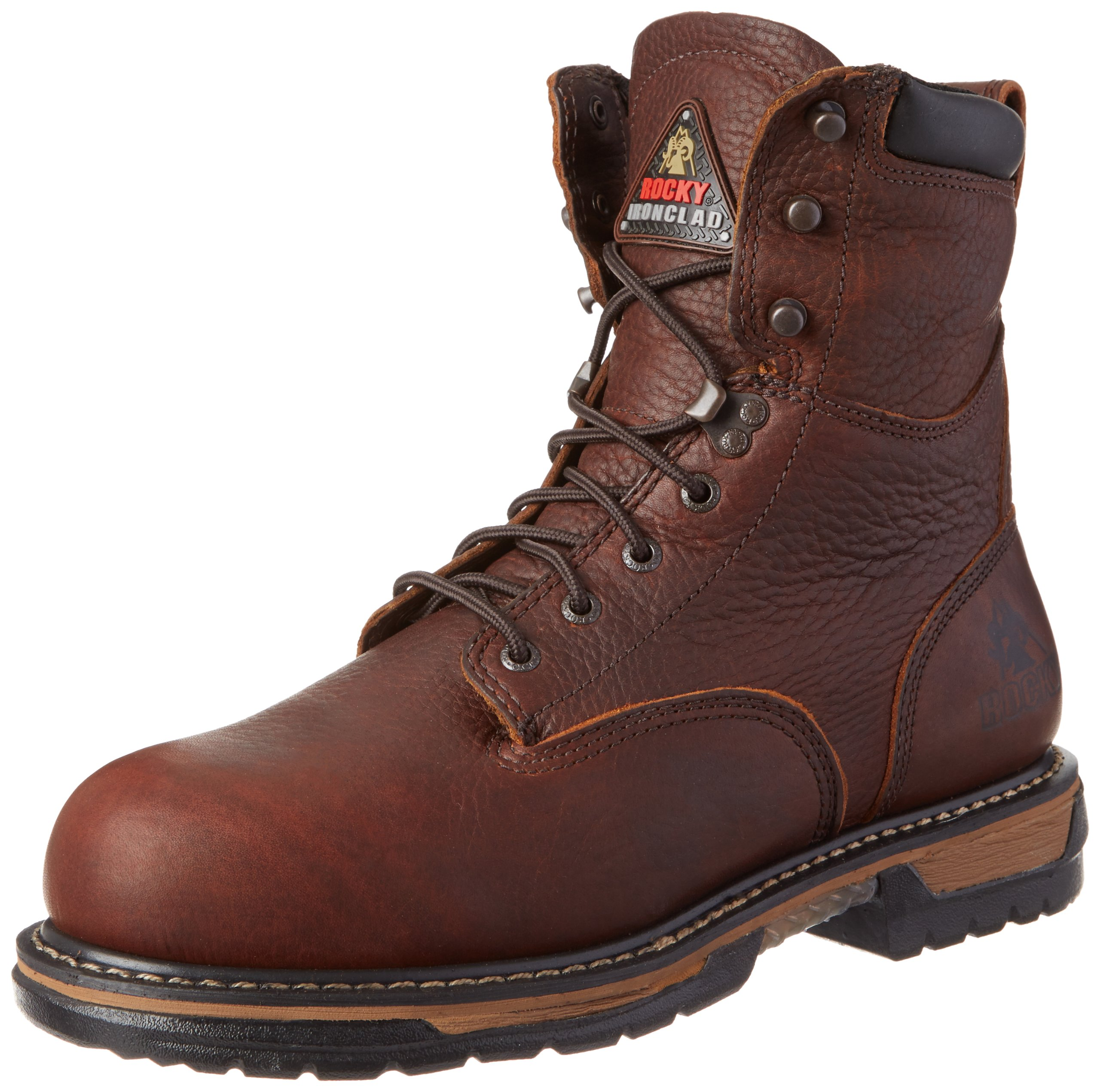 Rocky Men's Iron Clad Eight Inch Steel Toe Work Boot,Brown,10 M US