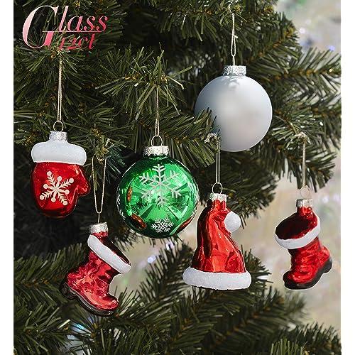 Christmas Decorations Blown Glass: Amazon.com