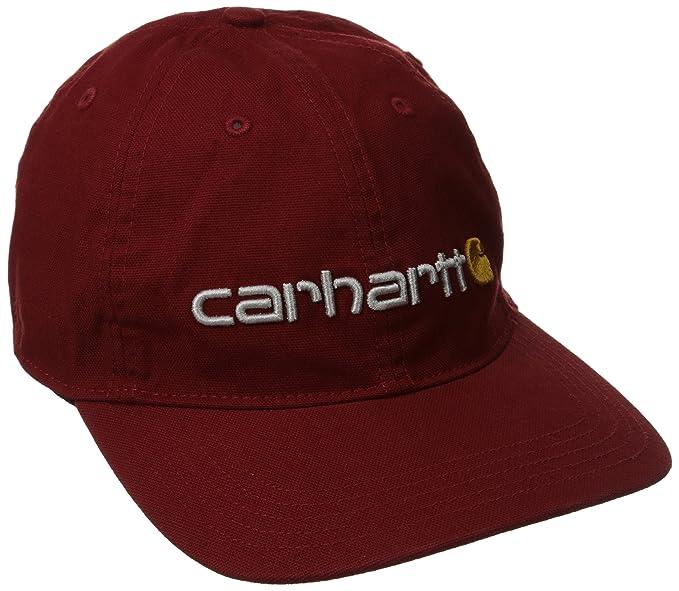 Carhartt Hombre oakhaven Logo Cap - Rojo - : Amazon.es: Ropa y accesorios