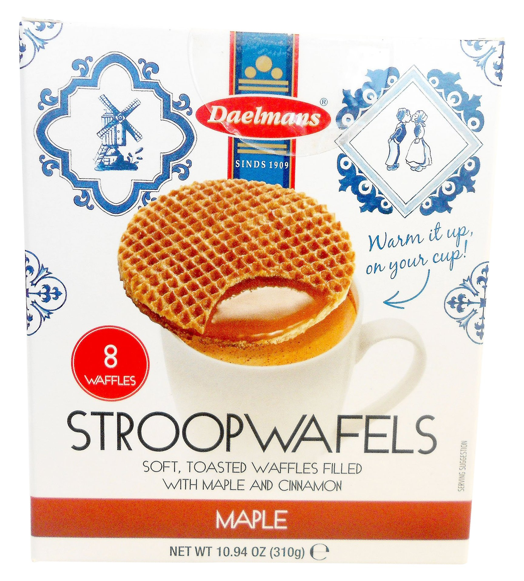 Daelmans Stroopwafels, Maple, 10.94 (8 Count Cube Box) by Daelmans