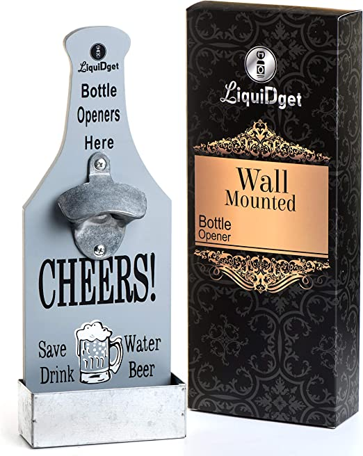6 Wall Mounted Beer O/'Clock Bottle Openers Cast Iron Home Bar Kitchen Gift Dad