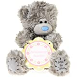 "Me to You, Tatty Teddy, Grey Teddy Bear Holding A Wooden, 'Auntie' Plaque, Sits 6"" Tall"