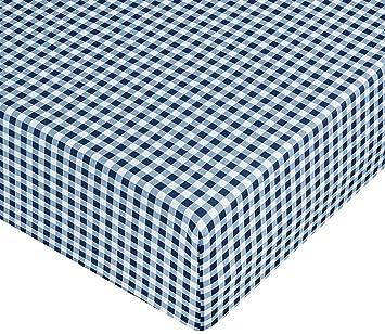 AmazonBasics Drap housse en microfibre Vichy 140 x 200 x 30 cm