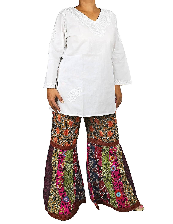 Baumwolle Palazzo Hose Lange Damen Hose, Schneiden Sie Mit Einem Lockeren Sommerkleid Abendkleid