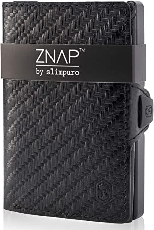 ZNAP Cartera Hombre RFID Metálico con Compartimento para Monedas – Tarjetero Hombre de Aluminio – Billetera Hombre pequeña para 4-8 Tarjetas – Monedero Hombre Minimalista: Amazon.es: Equipaje