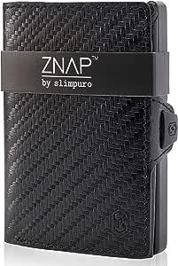 ZNAP Cartera Hombre RFID Metálico con Compartimento para Monedas – Tarjetero Hombre de Aluminio – Billetera Hombre pequeña para 4-8 Tarjetas – Monedero Hombre Minimalista