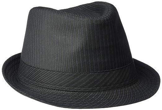 Henschel Men s Poly Cotton Stripe Stingy Brim Fedora at Amazon Men s ... 4b6be35b982
