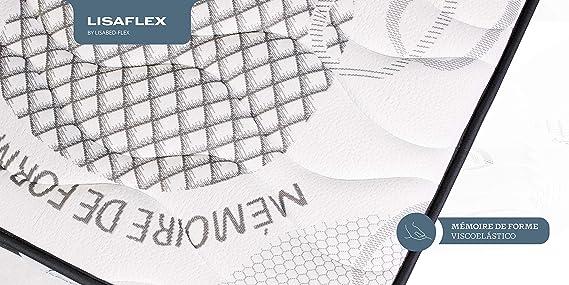 Lisabed Flex | Colchón Lisa-Flex 135x190 cm | Viscoelástico de Grafeno de Alta Densidad | Reversible Invierno/Verano | Gama Prestige Hotel | 26 cm ...