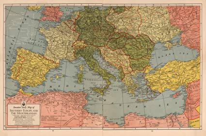 Map Of Texas Vs Europe.Amazon Com Map Poster Invasion Study Map Of Southern Europe And
