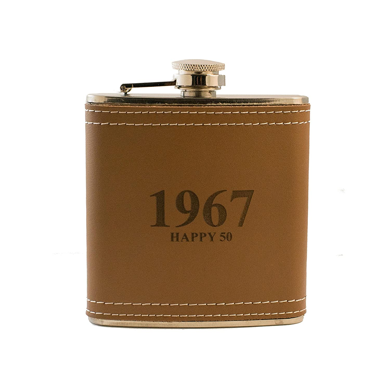 100 %品質保証 6oz 1967 1967 Happy Happy 6oz 50レザーフラスコ B01HKB1IHA, アイデア百選会:6e764ef9 --- fitnessmarathi.com