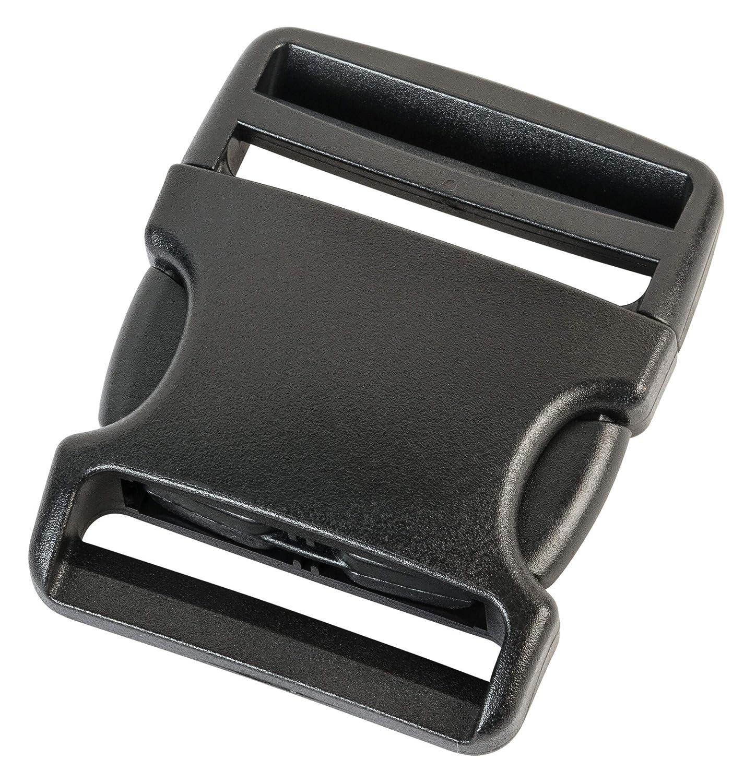 Boucle enfichable Fermeture Clip 38 mm 25 mm Boucle de Remplacement Fermeture /à clic Plastique Noir 50 mm avec Fermeture Rabattable Fermeture encliquetable AceCamp Duraflex fiche 20 mm
