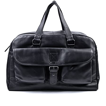 BACCINI real leather travel bag holdall DAVE