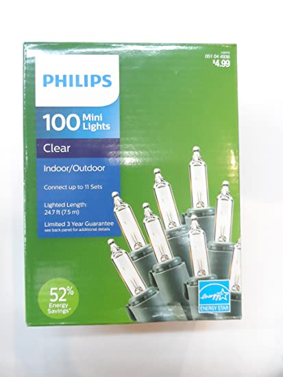 amazon com philips 100 mini lights clear home kitchen