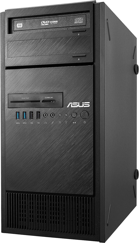 ASUS ESC500 G4 - M7B - Ordenador de sobremesa (Intel Xeon E3-1230 V6, 2 x 8 GB RAM, 1 TB HDD, 256 GB SSD, Nvidia Quadpro P4000), Negro
