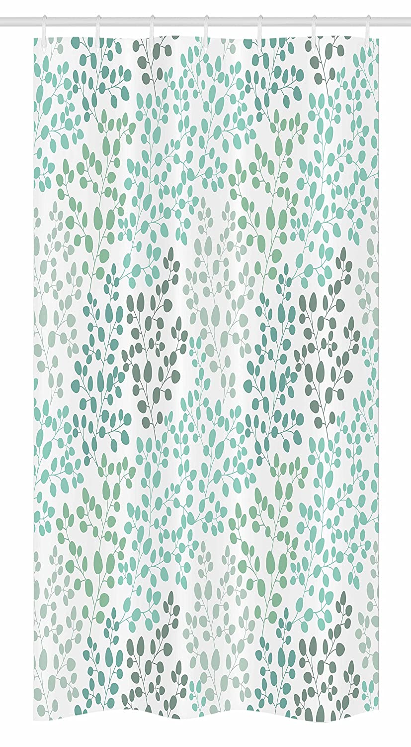 Fabric Bathroom Decor Set with Hooks 36 X 72 Palm Trees and Exotic Plants in Tropical Jungle Wild Nature Theme Illustration Green Ambesonne Rainforest Stall Shower Curtain