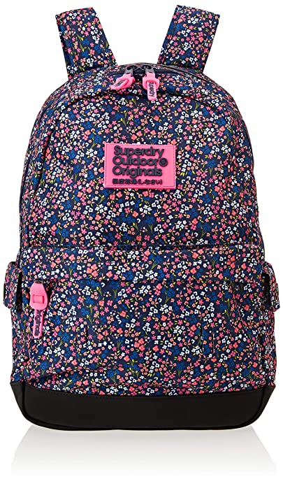 b66703aad00 Superdry Print Edition Montana, Women's Backpack, Blue (American Ditsy  Blue), 30x45x13