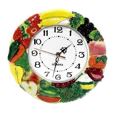 Amazon.com: Hand-Painted Quartz Wall Clock Fruits or ...