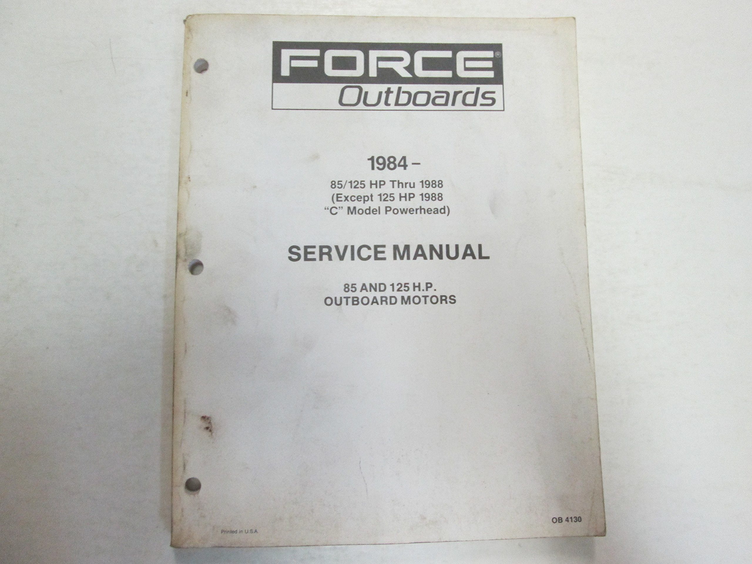 1984- Force Outboards 85 125 HP Thru 1988 Outboard Motors Service Manual  STAINED: Force: Amazon.com: Books