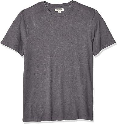 Marca Amazon - Goodthreads - Camiseta de algodón de lino con cuello redondo para hombre: Amazon.es: Ropa y accesorios