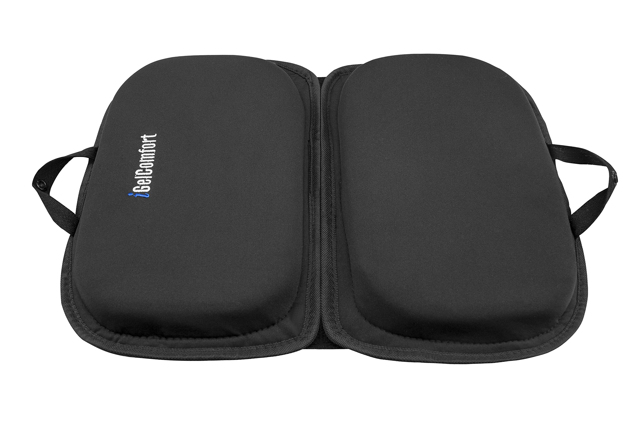 """Sojoy iGelComfort 3 in 1 Foldable Gel Seat Cushion Featured with Memory Foam (A Must-Have Travel Cushion! Smart, Easy Travel Cushion) (Size: 18.5"""" x 15'' x 2'')"""