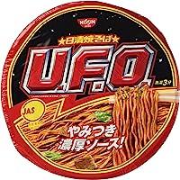 Nissin UFO Instant Japanese Sosu Yakisoba(Pan-Fried Noodles) 4.5oz(129g) x 6pcs (for 6 Servings)[Japan Import]