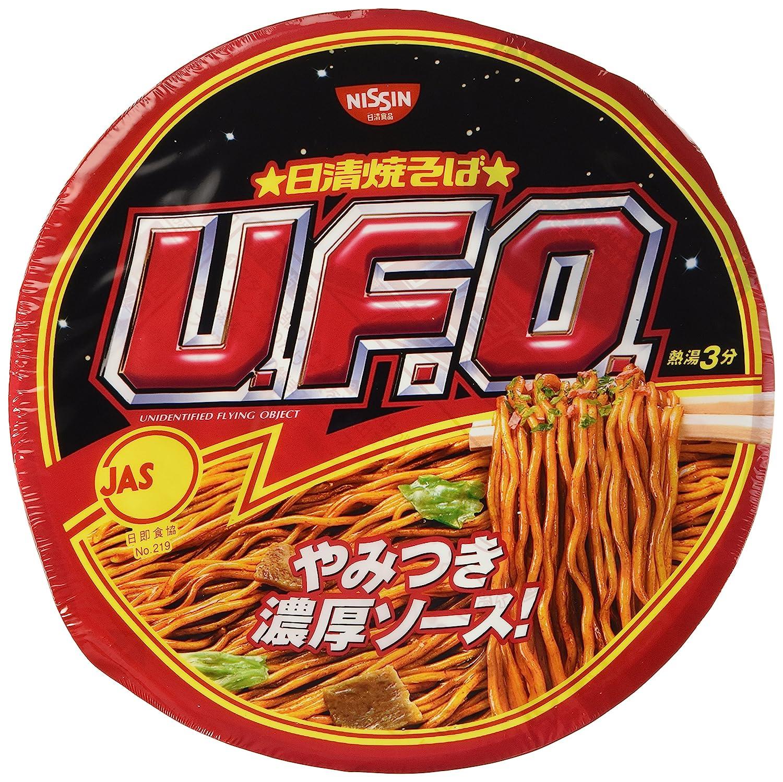 Nissin UFO, Instant Japanese Sosu Yakisoba(Pan-fried Noodles), 4.5oz(129g) x 6pcs (For 6 servings)[Japan Import]