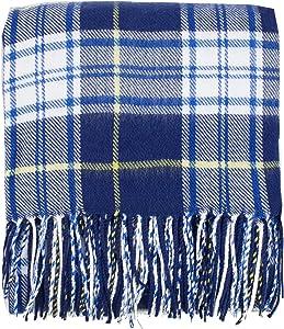 Fennco Styles Cozy Tartan Plaid Design Tassel Throw Blanket 50