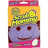Scrub Daddy 607841609685 Dubbel textur ändrande skrubbare kök superabsorberande svamp sidoskrubbning mamma (lila)