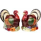"CG SS-CG-56540 Handcrafted Set Of Turkey Salt & Pepper Shakers, 3.75"", Brown"