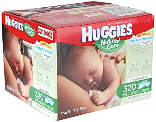 Amazon.com: Huggies Natural Care Refill Baby Wipes, 320 Count: Prime Pantry