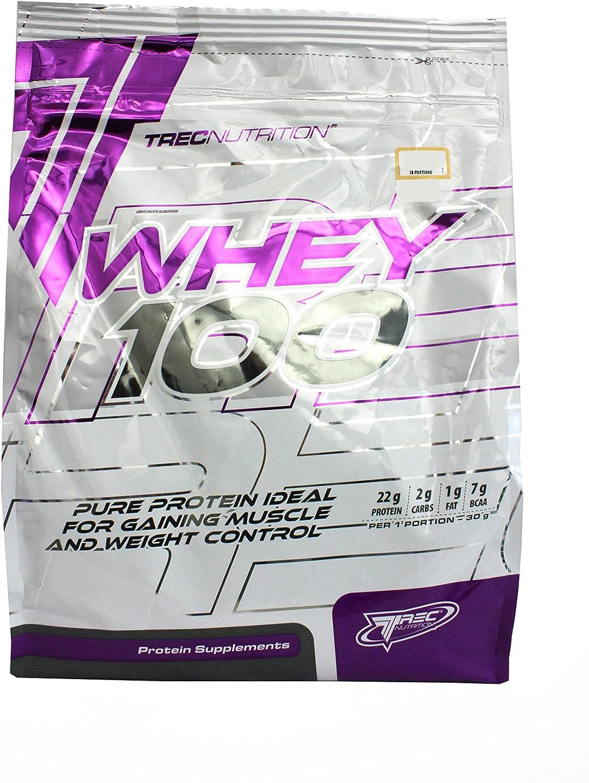 Trec Nutrition Whey 100, Complejo Proteínico, Sabor Natural - 2275 gr