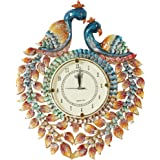 999Store wooden royal antique vintage look indian art rajasthani art large big hand made peacock crafted antique decorative designer wall clock