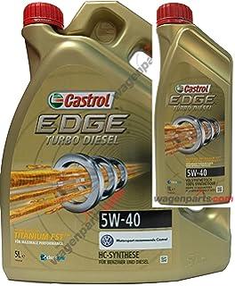 Aceite motor CASTROL EDGE TURBO DIESEL 5W40 6 litros (1x5 lts + 1x1 lt)