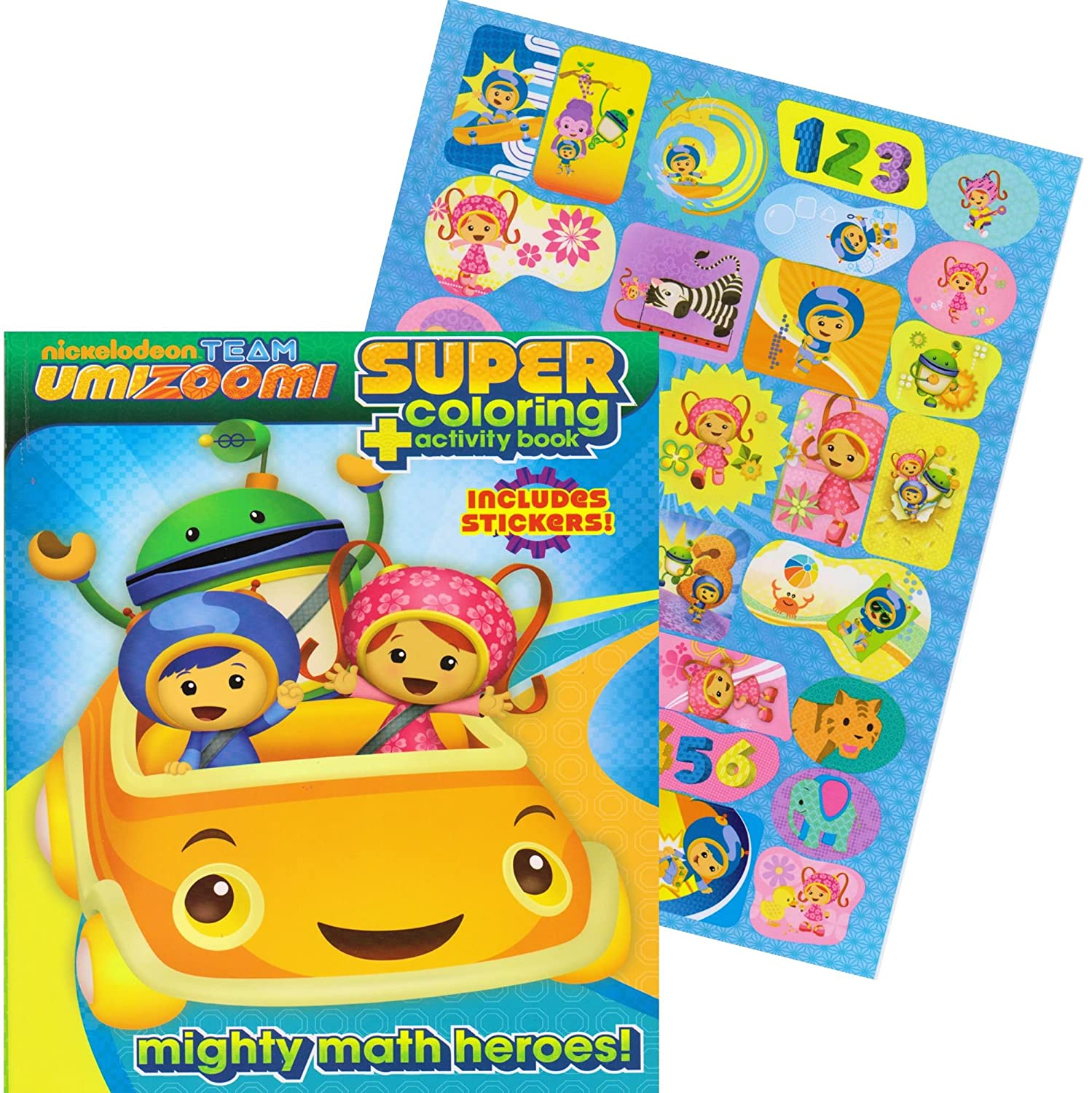 amazoncom team umizoomi jumbo coloring book with stickers 144 pages toys games
