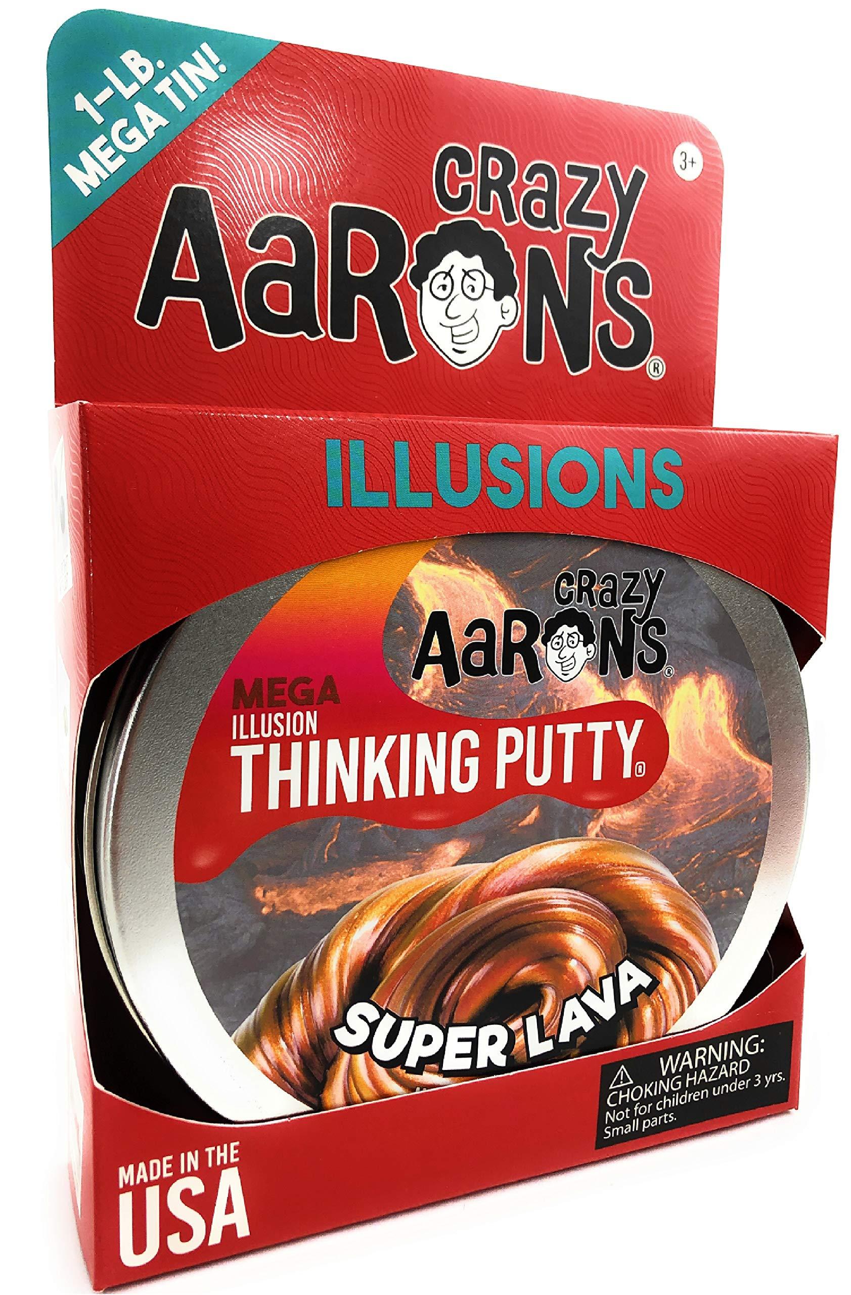 Crazy Aaron's Thinking Putty - Super Lava MEGA Tin - 1 LB Tin by Crazy Aaron's (Image #4)