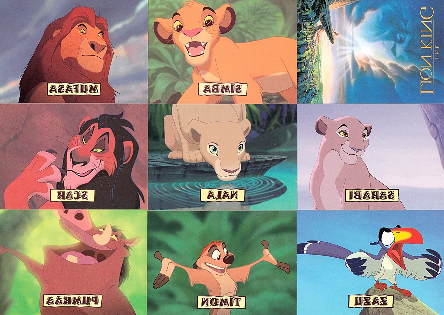 THE LION KING SERIES 1 1994 SKYBOX COMPLETE BASE CARD SET OF 90 DY DISNEY