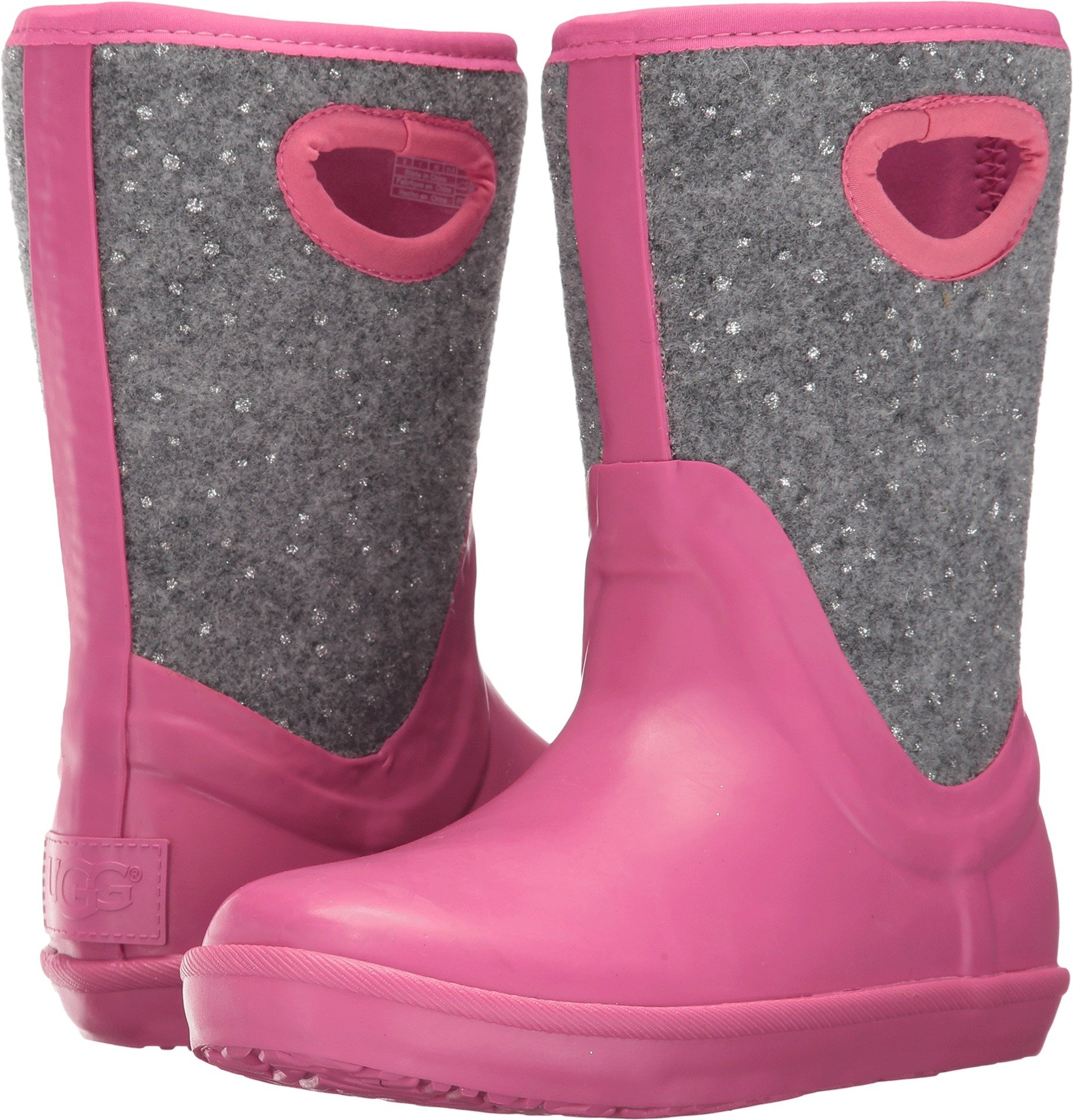 UGG Girls K Kex Sparkle Rain Boot, Pink Azalea, 4 M US Big Kid