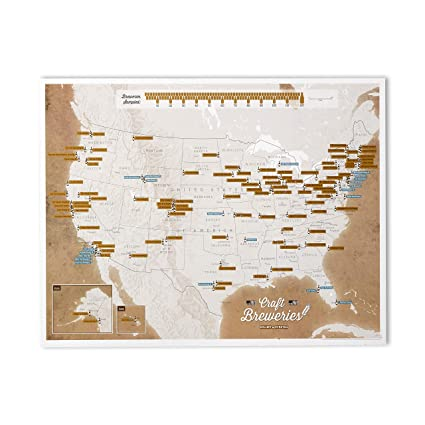 Amazon.com: Maps International - Scratch Off USA Map Craft Breweries ...