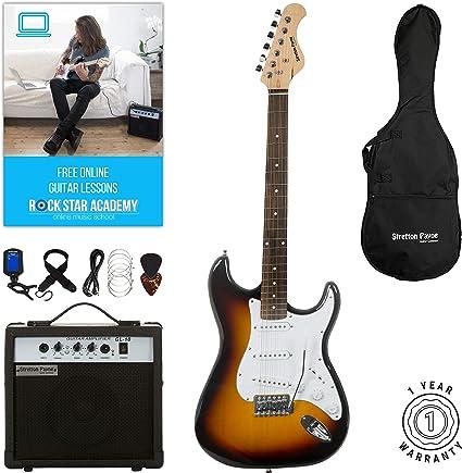 Stretton Payne ST guitarra eléctrica con amplificador de práctica ...