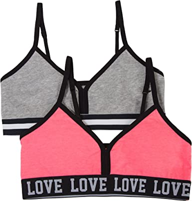 Pack of 2 Fruit of the Loom Big Girls Cotton Bralette