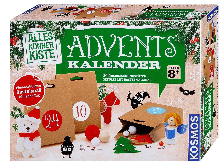 Kosmos Experimente & Forschung 604349 Alleskönnerkiste Basteln Adventskalender 2018 Weihnachten empfohlenes Alter: ab 8 Jahre Kalender / Adventskalender Weihnachtskalender