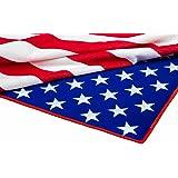 "Microfiber Beach Towel American Flag Print ""Great America"" 100% Polyester 28""x55"""