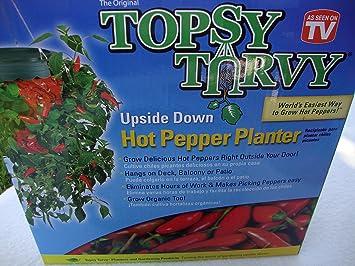 Amazon Com Topsy Turvy Pepper Planter Garden Outdoor