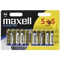Maxell 790253 Pile Stilo LR6 AA, confezione da 10 pezzi, 1.5 V
