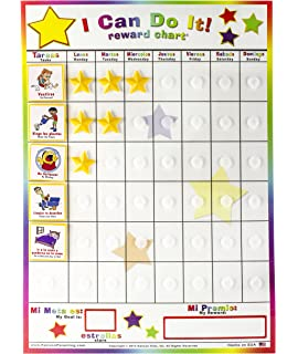 Kenson Kids Spanish/English I Can Do It! Responsibility Reward Chart
